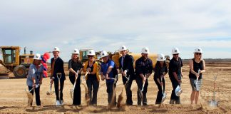 Ground breaking for QC elementary copy