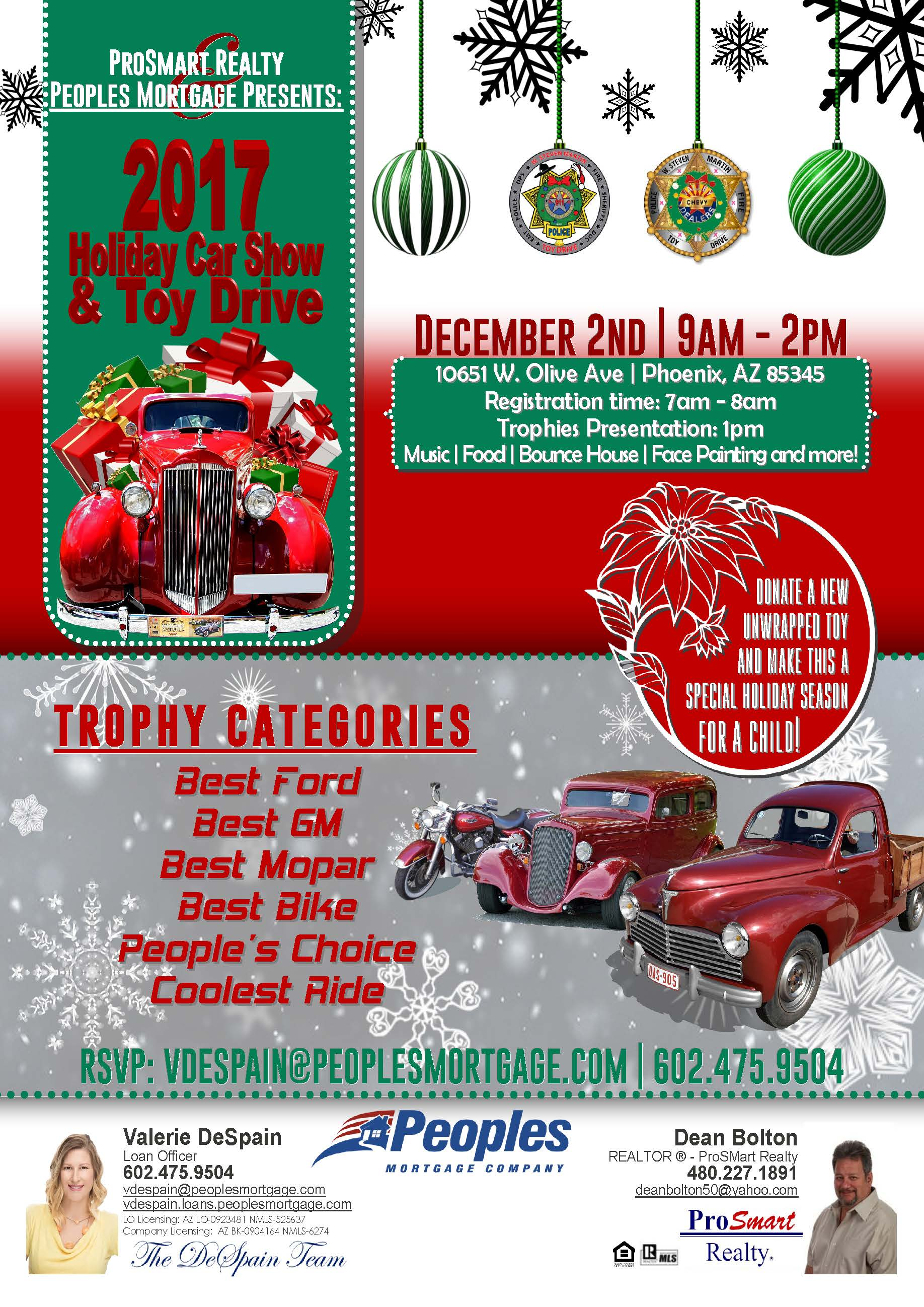 Holiday Car Show Toy Drive Arizona News - Car show trophy categories