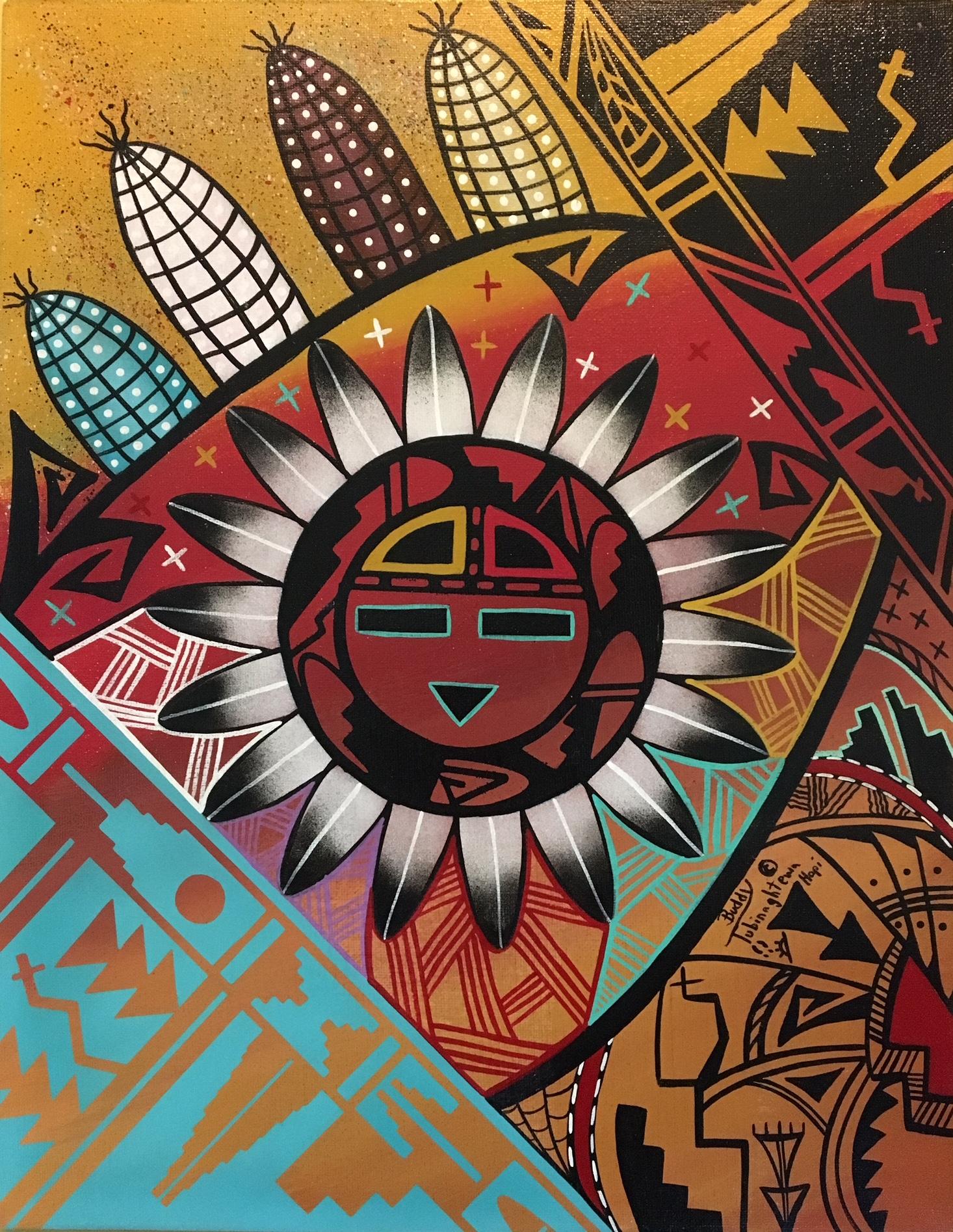 "Hopi Artist Buddy Tubinaghtewa's ""Sun Blessings"" is ...  Hopi Drawings"