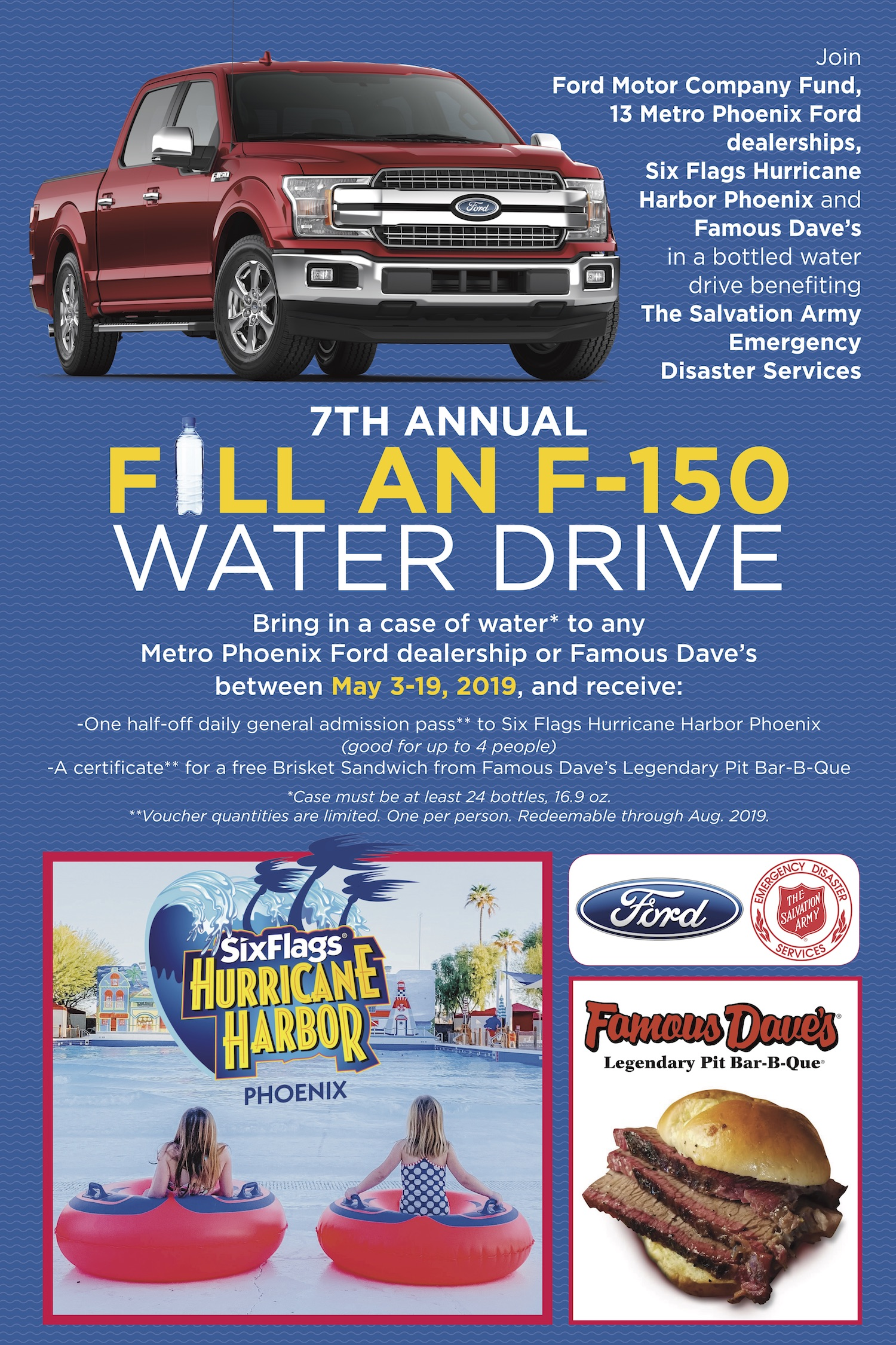 Ford Dealership Phoenix >> Donate To The 7th Annual Fill An F 150 Water Drive Arizona News