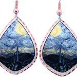 Van Gogh's Starry Night Inspired Art Jewelry Earrings