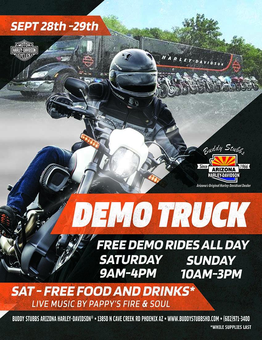 Harley Davidson Arizona >> Buddy Stubbs Arizona Harley Davidson 2020 Demo Ride