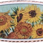 Van Gogh's Sunflowers handmade jewelry hair clips