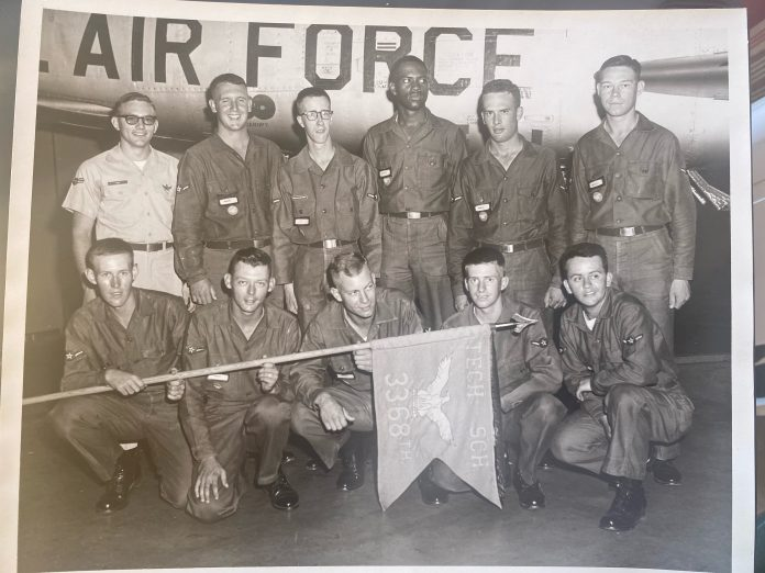 Dennis Sheffield in the U.S. Air Force.