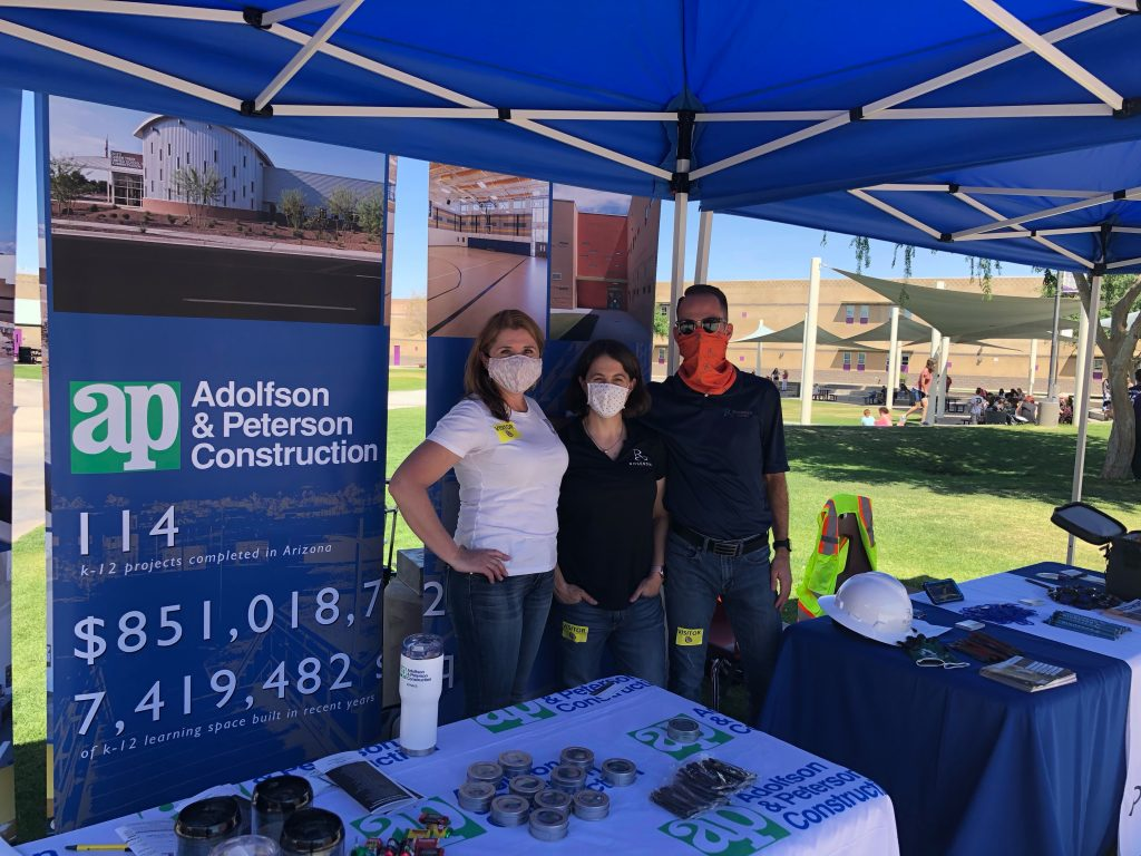 Rosendin and Adolfson & Peterson Construction team up for Queen Creek High School's April 2021 Career Fair-e87f0009