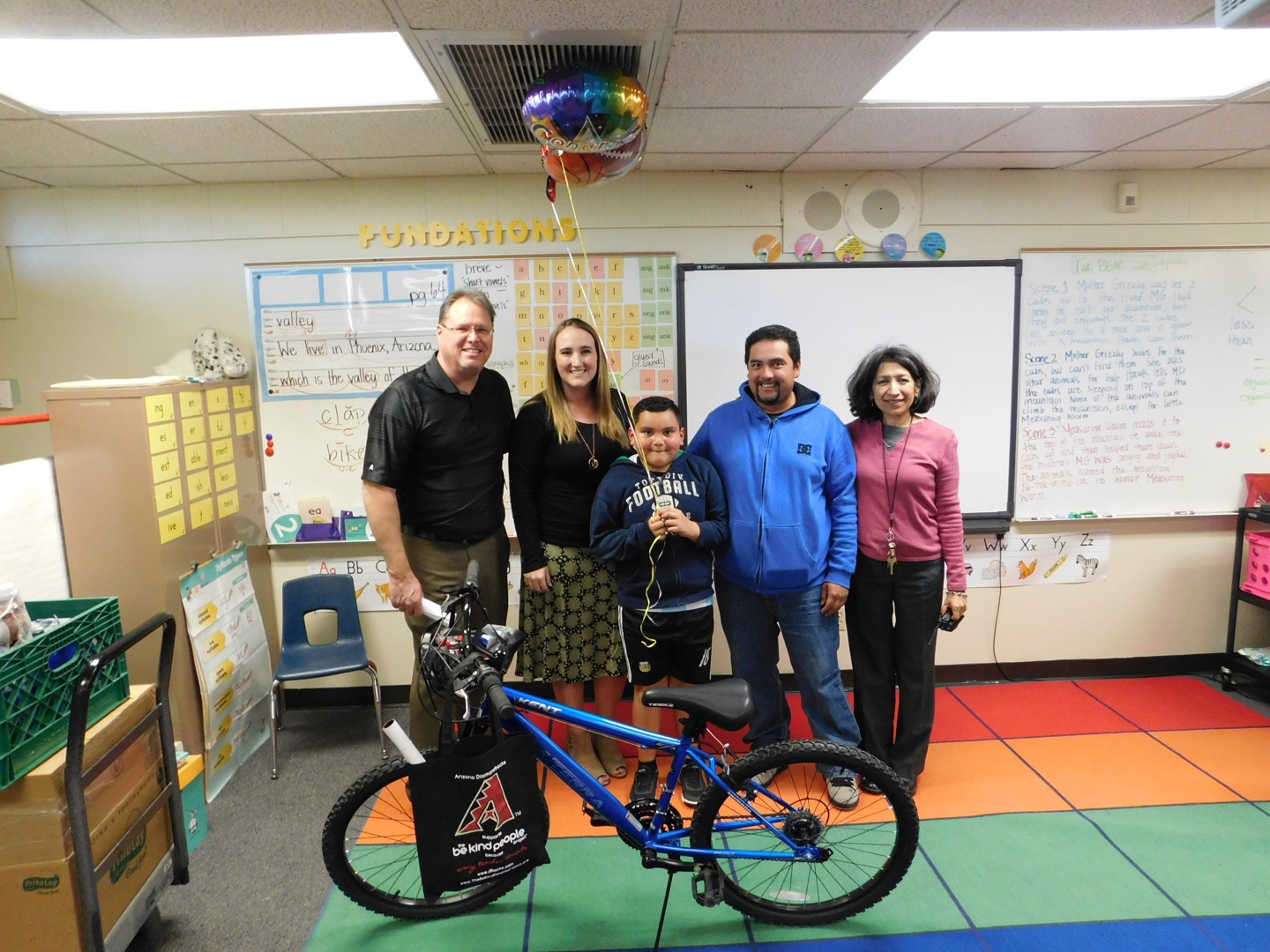 ... in partnership with Subway Restaurants of Arizona, Dasani Water,  Shamrock Farms and The Be Kind People Project, rode into Galveston  Elementary School in ...