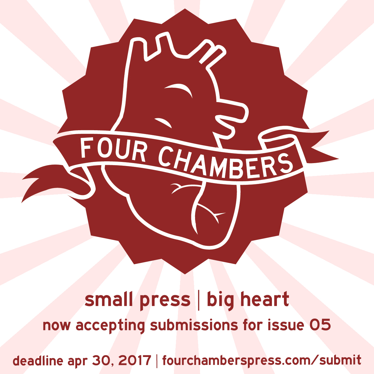 Four Chambers Press Looking For Submissions for Fifth Issue