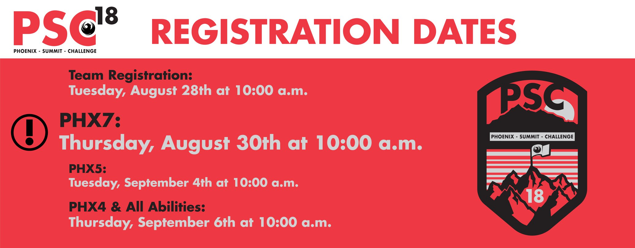 Officials Announce Important Registration Dates for Phoenix Summit